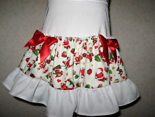 NEW CUTE Baby Girls Cute White Red Gold Father Christmas Santa Party Gift Skirt