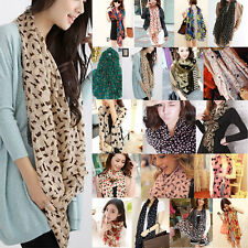 Ladies Women Long Soft Chiffon Scarf Neck Wrap Shawl Stole Scarves Leopard Dot