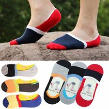 5 10 Pairs Men Loafer Boat Invisible No Show Nonslip Liner Low Cut Cotton Socks