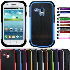 Shock Proof Dual Layer Silicone & Hard Case Cover Samsung Galaxy S3 Mini I8190