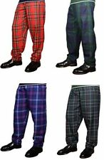 Great Gift: Baggy Casual Donnelli's Mens Tartan Trousers/Pants Size S/M