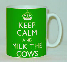 Keep Calm And Milk The Cows Mug Can Be Personalised Dairy Farmer Farm Great Gift