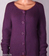 Dickins & Jones Purple Chunky Knit Cardigan RRP £85 House of Fraser Free UK Ship
