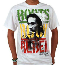 BOB MARLEY ROOTS ROCK REBEL RASTA REGGAE 100% OFFICIAL ZION ROOTSWEAR T-SHIRT