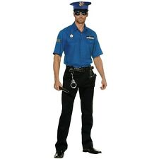 Mens Police Officer Uniform Costume Cop Role Play Bucks Hens Party Outfit & Hat