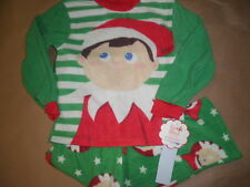 New Boys Elf on the Shelf 2pc Set pajamas fleece Sleepwear XS S M L