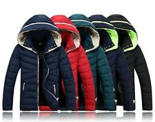 New Men'S Winter Warm Padded Thick Padded Coat Jacket Coat Hooded outerwear