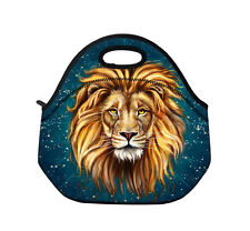 Lion Insulated Neoprene Lunch Tote Bag Picnic Bag Cooler Box Zip& Handles Bag