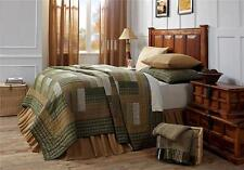 8PC MONTGOMERY RUSTIC PRIMITIVE COTTON QUILT SHAMS SKIRT PILLOW CASES BED SET