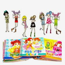 Cartoon Stickers Clothes Show Collage Dressup Make-up Manual Children's Handmade