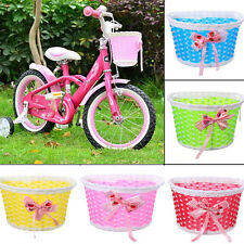 New Bike Bicycle Cycle Shopping Front Basket Flowery Holders Stabilizers Carry