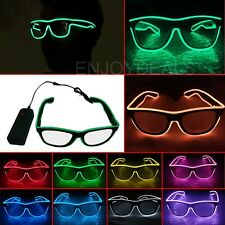 Costume Party KTV LED Light Up EL Wire Glow Shades Party Bar Eye-wear Glasses