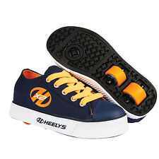 NEW HEELYS X2 PURE JUNIOR KIDS BOYS GIRLS CANVAS LACE UP CASUAL ROLLER TRAINERS