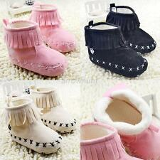 Baby Infant Girl Tassels Boots Soft Bottom Shoes Toddler Antislip Snow Boots A93