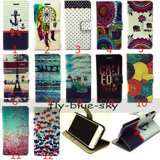 Fashion Magnetic PU Leather Flip Wallet Stand Hard Back Case Cover For Phones
