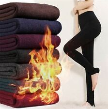 Women's Winter Warm Knitted High Waist Leggings Thick Tights Pants Hot Pantyhose