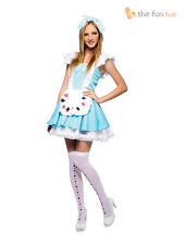 Adult Alice in Wonderland Fancy Dress Ladies Sexy Fairytale Storybook Costume
