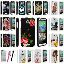 For HTC Desire 510 Snap on Slim Fitted Hard Image Design Rubber Case Cover Skin