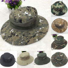 New Men Bucket Hat Boonie Hunting Fishing Outdoor Cap Canvas Military Sun Hat 90
