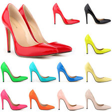 2015 Ladies Patent High Heels Pointed Corset Toe Pumps Court Shoes Size UK 2-9