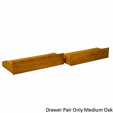 All Wood Storage Drawer Pair Fits Underneath Full and Queen-size Futon Frames an
