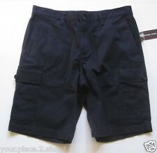 Michael Kors Cotton Stretch Cargo Midnight Mens Shorts $125