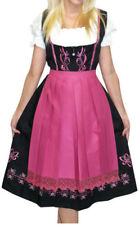 DIRNDL Trachten Oktoberfest DRESS 3 pcs Long EMBROIDERED German Waitress Party