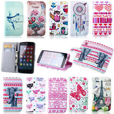 New Classic Elephant Flower Stand Card Slot Flip Leather Wallet Soft Case Cover