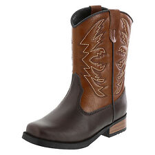Smartfit Toddler Boy's Shoes  SQUARE TOE WESTERN  Boot BROWN