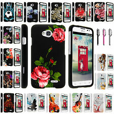 LG Optimus Exceed 2 VS450PP Snap on Slim Fitted Hard Image  Rubber Case Cover