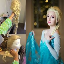 Adult/Child Girl Queen Princess Snow Cosplay Elsa Weaving Braid Ponytail Cos Wig
