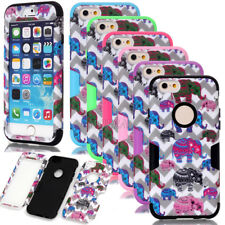 New Shockproof Elephant Waves Pattern Dual Layer Matt Case For iPhone 6 6S Plus