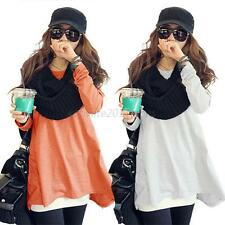 Womens Long Sleeve Shirt Casual Cotton Blend Blouse Loose Tops Lady T Shirt R23