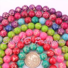 """12MM ROUND SHAPE IMPERIAL JASPER GEMSTONE LOOSE BEADS STRAND 15"""" PINK COLOR"""