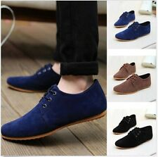 New Men Fashion Casual Suede Sneakers Soft Lace Up Moccasin Loafers Sport Shoes