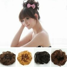 1 PC Synthetic Wig Scrunchie Braided Hairpiece Bun Pony tail Elastic Hair Band