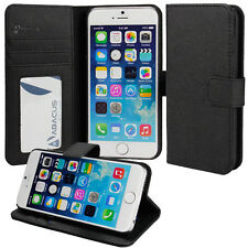 Flip Faux Leather Wallet Stand Case Cover for Apple iPhone 6 (4.7)