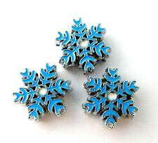Christmas blue snowflake 8mm Slide Charm Fit Wristband/Pet Name Collar/strips