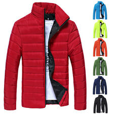 XMAS HOT SALE New Men Winter Stand Collar Slim Padded Coat Outwear Down Jacket