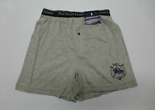 Polo Ralph Lauren Mens S(28-30) Grey Knit Boxer Short Underwear New