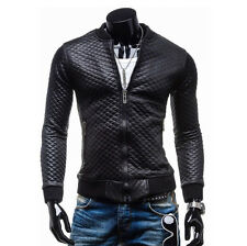 FINAL CLEARANCE Mens Cool Winter Jacket Leather Motorcycle Biker Coat Parka Tops