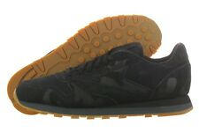 Reebok Leather Emb Camo V59903 Black Classic Casual Shoes Medium (D, M) Men