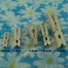 100 Wood Clothspin Photo Clip Pin DIY Accessary 2.5cm 3.5cm 3.6cm 4.5cm 7.3cm