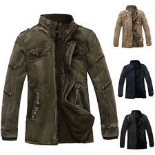 2014 New Mature Winter Men Trench Coat Jackets Military Outerwear Overcoat Parka