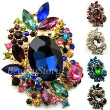 Austrian Rhinestone Crystal Flower Brooch Bouquet
