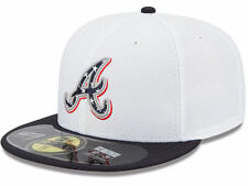 New Era 59Fifty Atlanta Braves MLB Stars and Stripes July 4th Fitted Cap Hat $38