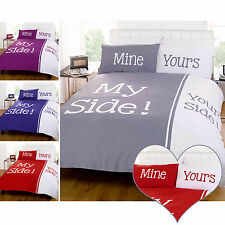 My Side! Your Side! Retro Chic Duvet Cover - Funny Couple Christmas Bedding Gift