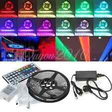5M 300 LED 5050 SMD Non-Waterproof RGB Strip Light + 24 44 KEY + IR 12V 5A Hot