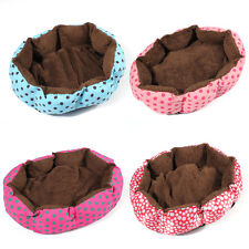 Small Soft Fleece Pet Dog Puppy Cat Warm Bed House Plush Cozy Nest Mat Pad Split