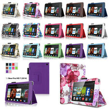 "For 2014 Amazon Kindle Fire HD 6"" HD 7"" Folio PU Leather Case Smart Cover Stand"